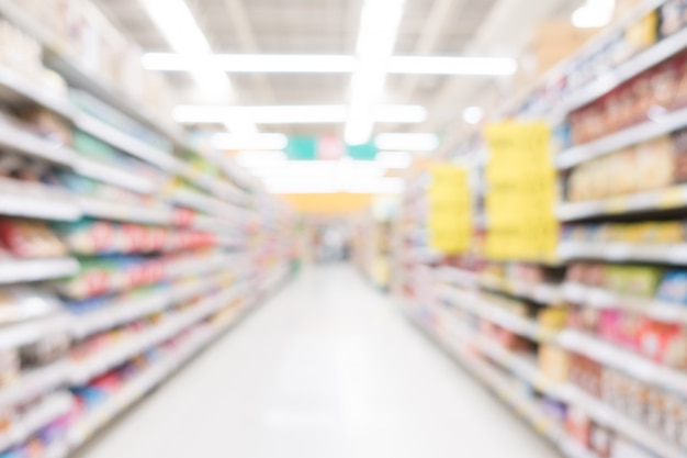 Abstract blur supermarket Free Photo