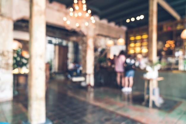 抽象的なぼかしの背景のビンテージカフェレストラン Premium写真