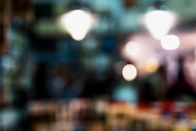 Abstract blurred bokeh light background Free Photo