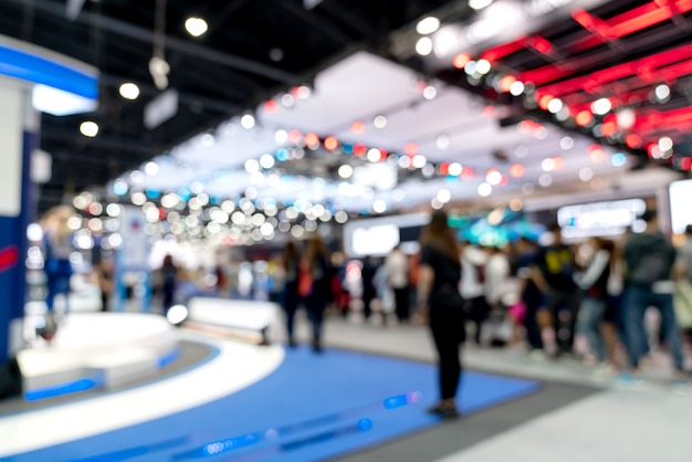 Abstract blurred defocused tradeshow event exhibition. Premium Photo