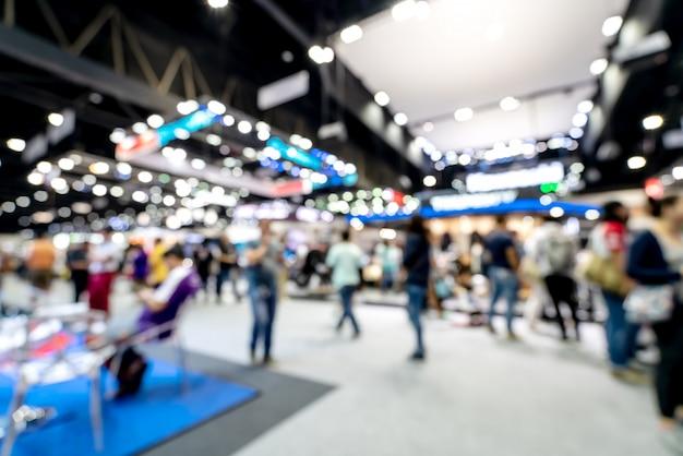 Abstract blurred defocused tradeshow event exhibition. Premium Photo