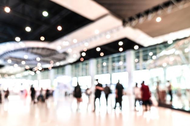 Abstract blurred defocused tradeshow event exhibition, Premium Photo