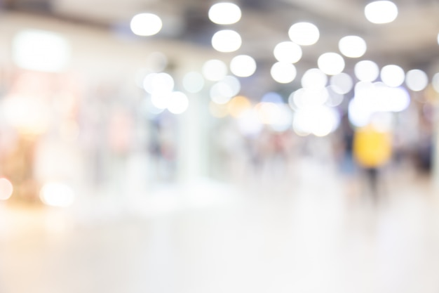 Abstract blurred shopping mall of department store with people background Premium Photo