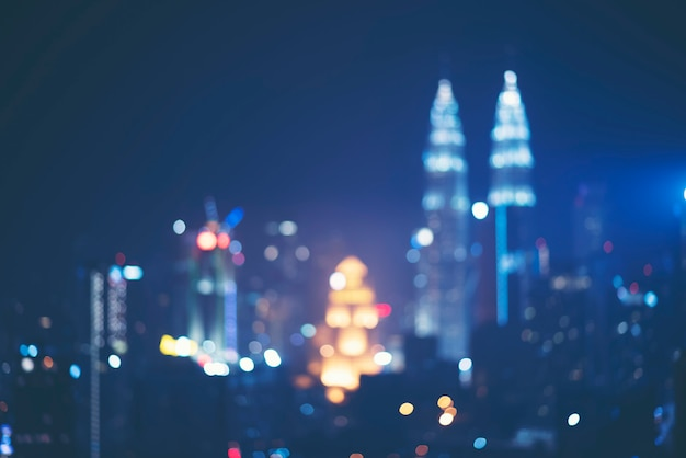 Abstract Blurry Background Of City View Of Kuala Lumpur