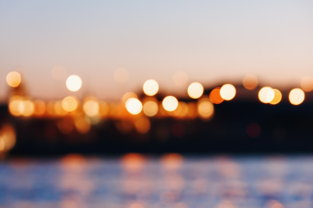 Abstract bokeh lights background Premium Photo