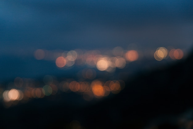 Abstract bokeh soft lights background Free Photo