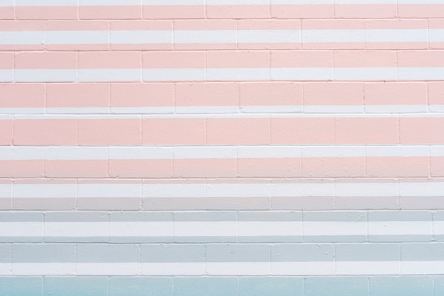 Abstract brick wall with colored lines Free Photo