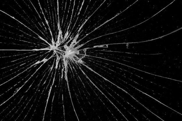 Abstract broken glass texture on a black background ...