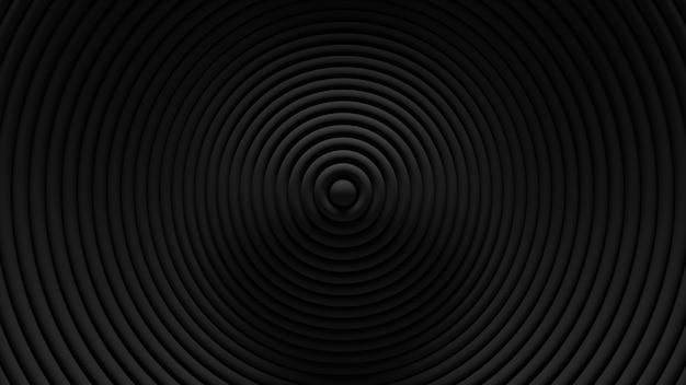 추상적 인 원형 블라인드 진동 배경. . 3d 링 물결 모양 표면. 기하학적 요소 변위. 무료 사진