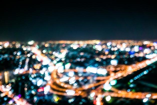 Abstract city bokeh light Free Photo