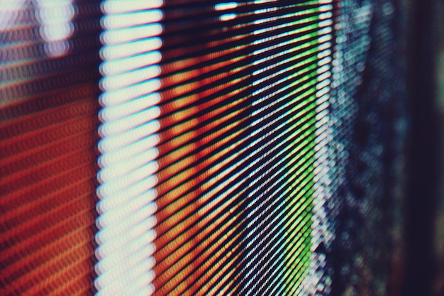 Abstract close up bright colored led smd video wall abstract background Premium Photo