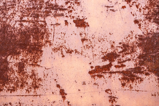 Abstract close-up of rusty metallic wallpaper Premium Photo