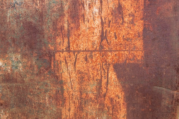 Abstract close-up of rusty metallic wallpaper Free Photo