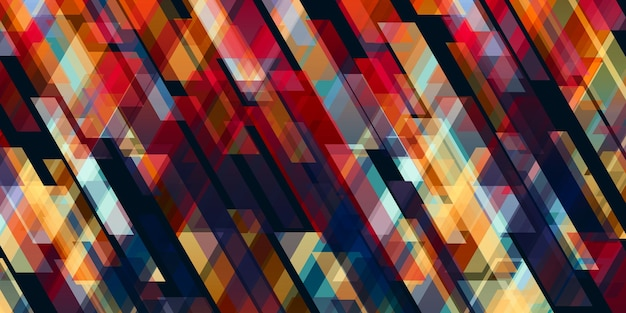 黒の背景の3dイラストと対照的な抽象的な色の線 Premium写真