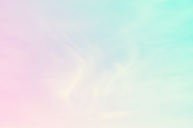 Abstract color pastel background, a soft sky with cloud background in pastel color Premium Photo