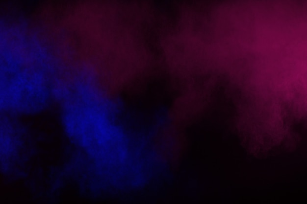 Abstract Color Smoke On Black Background Abstract Color