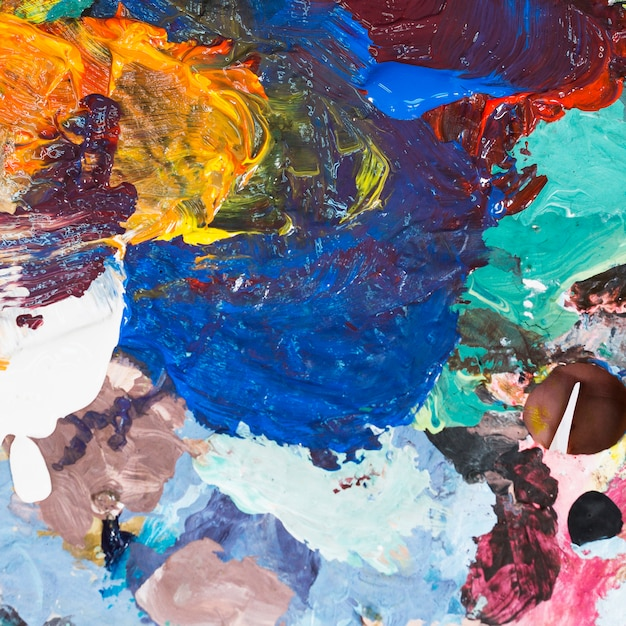 Abstract of colorful creamy textured backdrop Free Photo
