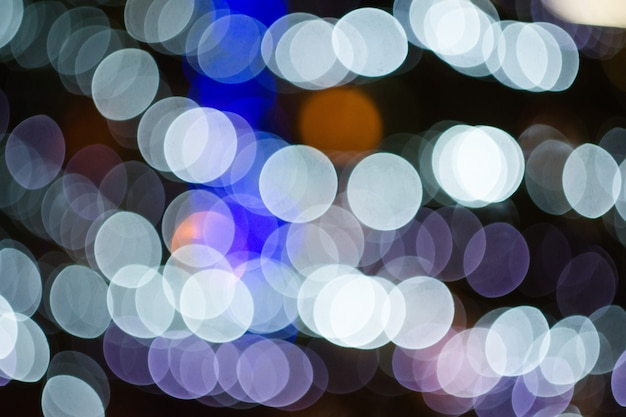 Abstract colorful defocused background with festive light bokeh Premium Photo