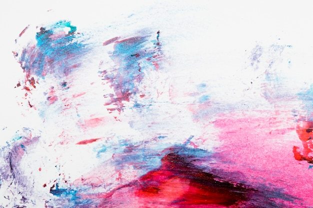 Abstract colorful smudged nail polish backdrop Premium Photo