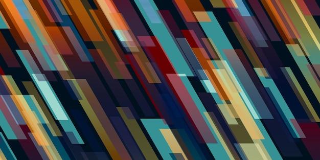 抽象的なカラフルな正方形の光斜め斜めの背景 Premium写真