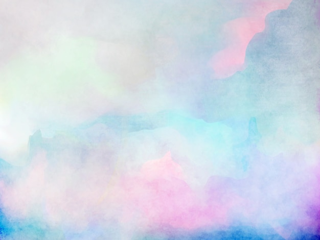 Free Photo Watercolors Rainbow Colors Lilac: Abstract Colorful Watercolor Background Photo