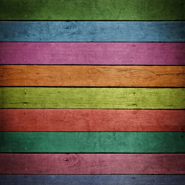 Abstract colorful wood background Premium Photo