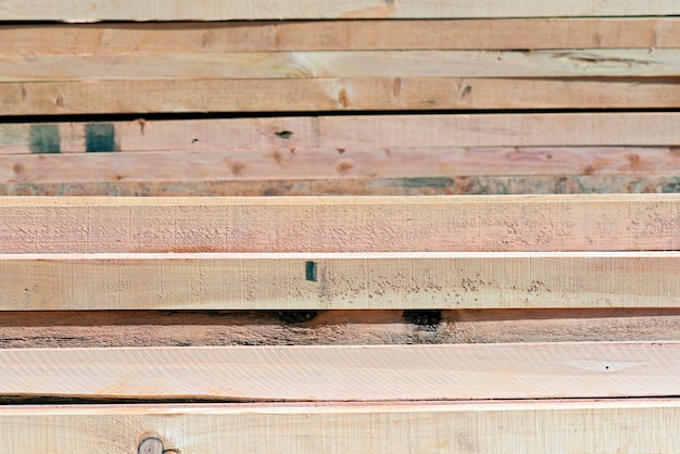 Abstract composition with pile of wooden boards background Premium Photo