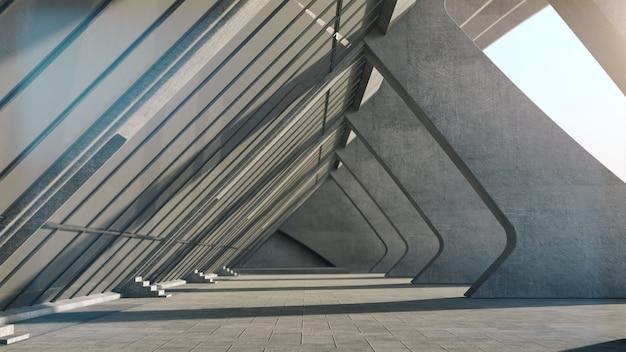 Абстрактная конкретная геометрическая предпосылка структуры. 3d рендеринг Premium Фотографии