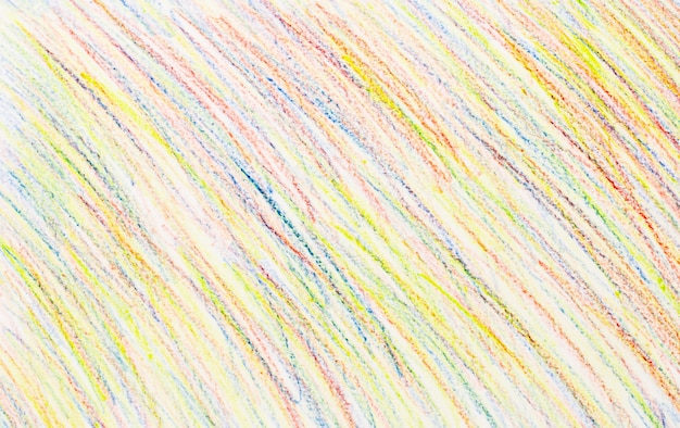 Abstract crayon drawings on white paper background - texture Premium Photo