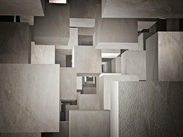 Abstract cubes Premium Photo