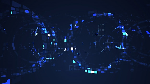 Abstract cyber circle internet futuristic technology concept Premium Photo