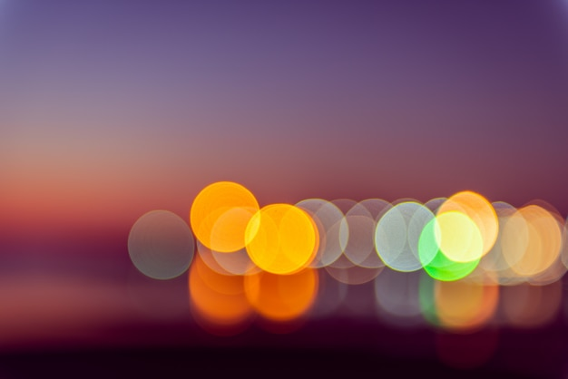 Abstract defocused colorful violet blue blurred bokeh background Premium Photo