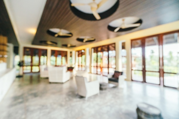 Abstract and defocused hotel lobby interior Free Photo