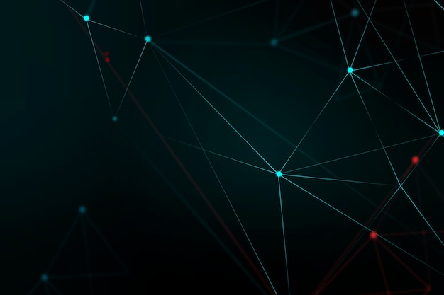 Abstract digital grid black background Free Photo