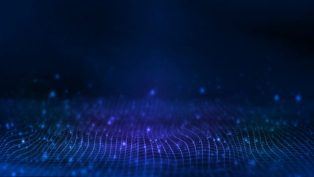 Abstract dots waves  background. Premium Photo