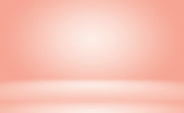 抽象的な空の滑らかなライトピンクのスタジオルーム Premium写真