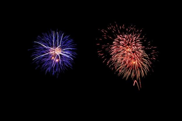 Abstract fireworks light up the dark sky Premium Photo