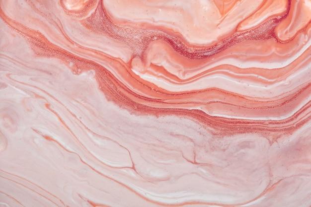 추상 유체 아트 배경 핑크와 장미 색상. 액체 대리석. 그라데이션 캔버스에 아크릴 페인팅. 패턴으로 수채화 배경입니다. 프리미엄 사진