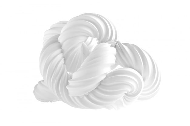 Абстрактная форма на белом фоне. 3d-рендеринг. Premium Фотографии