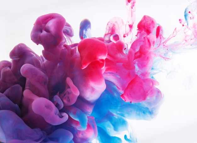 Abstract formed by color dissolving in water Premium Photo