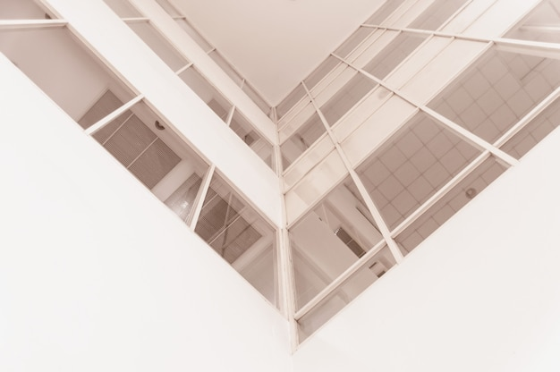 Abstract fragment of modern architecture Premium Photo
