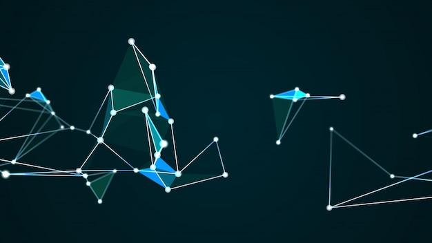 Abstract futuristic molecule structure internet digital technology graphic Premium Photo