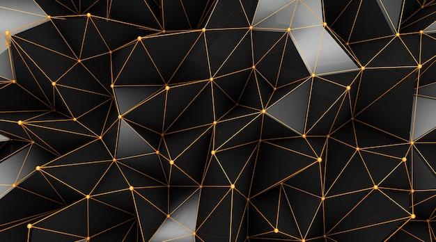 抽象的な幾何学的なポリゴンの壁紙。 Premium写真