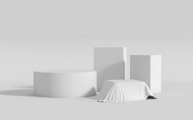 Abstract geometric shape group set scene minimal, 3d rendering Premium Photo