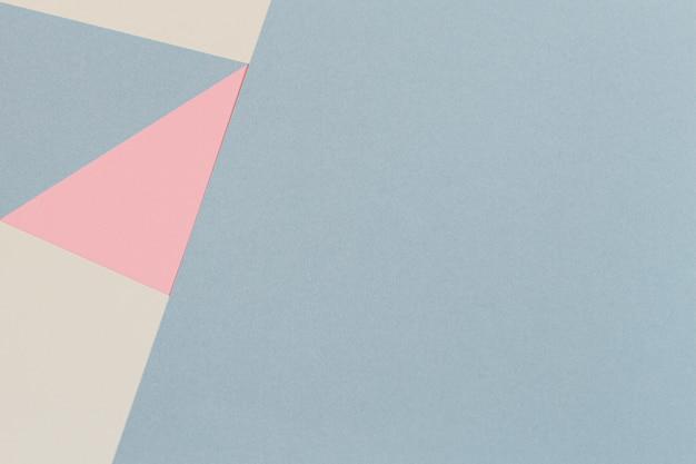ファッションパステルカラー紙の抽象的な幾何学的なテクスチャ背景。上面図、フラットレイ Premium写真