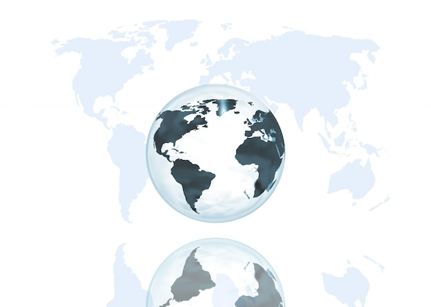 Abstract globe on world map background Free Photo