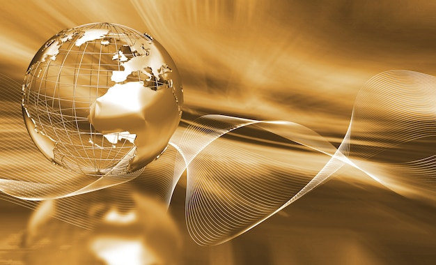 Abstract globe Free Photo