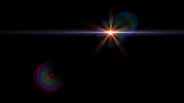 Abstract glowing light sun burst with digital lens flare Premium Photo