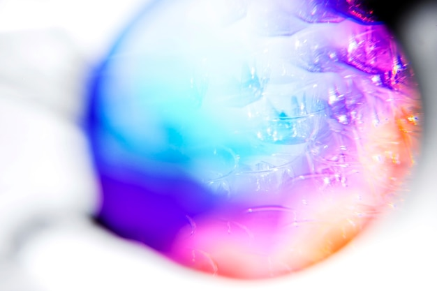 Abstract gradient blurred multicolored rainbow light spectrum in circle Free Photo