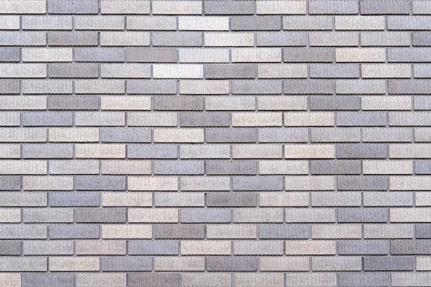 Abstract gray brick wall texture background. Premium Photo